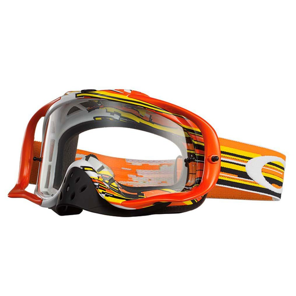 Gafas Oakley Crowbar MX Glitch Orange Yellow Clear