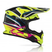 Casco Acerbis Impact Black Yellow Pink