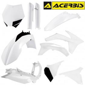 Full Kit de Plásticos Acerbis KTM SX 125/144/150 2012 - KTM SXF 2011-2012 Blanco