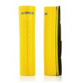 Protectores de Horquilla Acerbis 43-48 mm Goma Carbono Amarillo