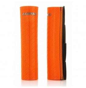 Protectores de Horquilla Acerbis 43-48 mm Goma Carbono Naranja