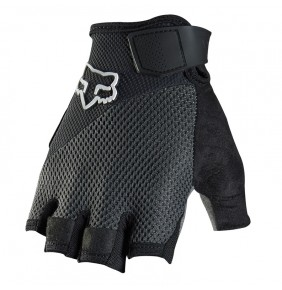 Guantes Fox Reflex Gel Short Black White Logo