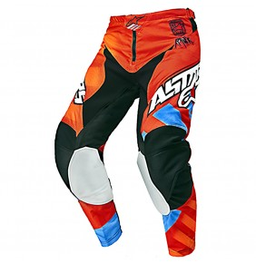 Pantalón Niño Alpinestars Racer Braap Red Orange Blue