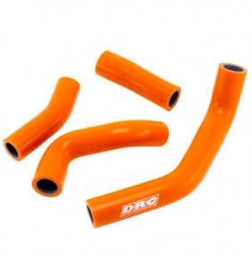 Juego Manguitos de Radiador DRC Orange KTM Duke