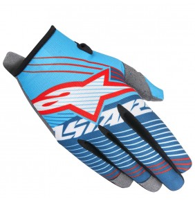 Guantes Alpinestars Radar Tracker Cyan White Dark Blue 2017