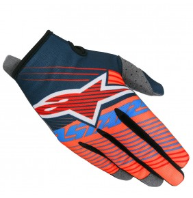 Guantes Alpinestars Radar Tracker Petrol Aqua Orange Fluo 2017