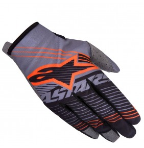 Guantes Alpinestars Radar Tracker Dark Gray Black Orange Fluo 2017