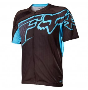 Maillot Fox Livewire Descent Light Blue