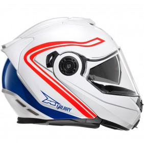 Casco Axo Galaxy White Red Blue