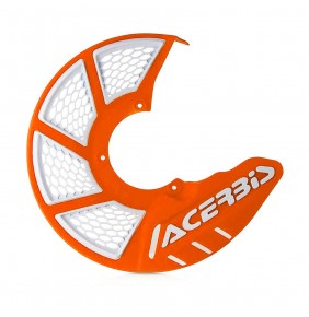 Protector Disco Delantero Acerbis X-Brake 2.0 Vented Naranja / Blanco