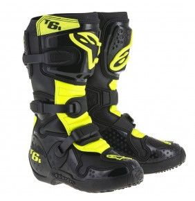 Botas Niño Alpinestars Tech 6S Black Yellow Fluo