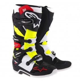 Botas Alpinestars Tech 7 Black Red Yellow Fluo