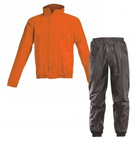 Traje de Lluvia Acerbis Rain Suit Logo Black / Orange Fluo