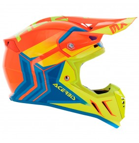 Casco Acerbis Profile 3.0 Snapdragon Orange / Yellow Fluo 2017