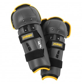 Rodilleras Niño Thor Sector GP Kneeguard Charcoal / Yellow