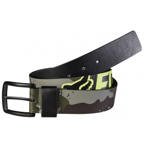 Cinturón Fox Hazzard Belt Black / Fluo Yellow