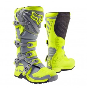 Botas Niño FOX Comp 5 Youth Yellow Grey 2017
