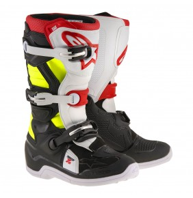 Botas Niño Alpinestars Tech 7S Black Red Yellow Fluo