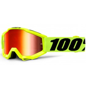 Gafas 100% The Accuri Junior Fluo Yellow / Mirror Red Lens