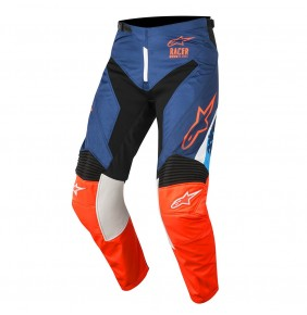 Pantalón Alpinestars Racer Supermatic Dark Blue Orange Fluo Aqua 2018