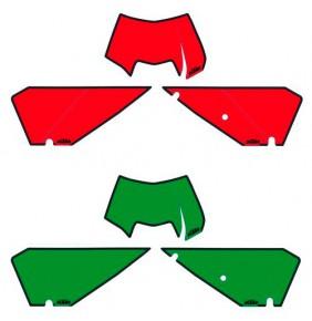 Juego de Adhesivos Porta Números KTM EXC 2008-2011
