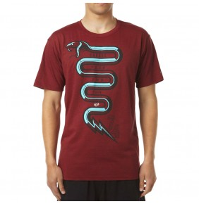 Camiseta Fox Flow Snake Tech Heather Red