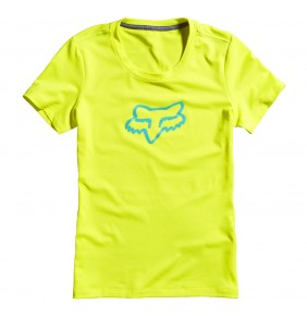 Camiseta Chica Fox Forever Tech Fluo Yellow