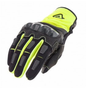 Guantes Acerbis Carbon G 3.0 Black / Yellow Fluo
