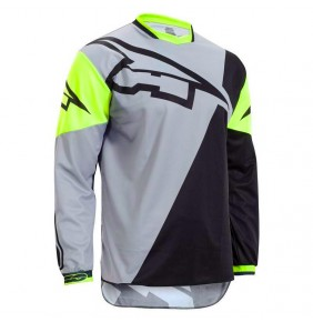 Camiseta Axo A2 Limited Edition Grey / Black / Yellow Fluo