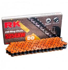 Cadena Retenes RK Naranja 525GXW 118 Pasos XW Ring