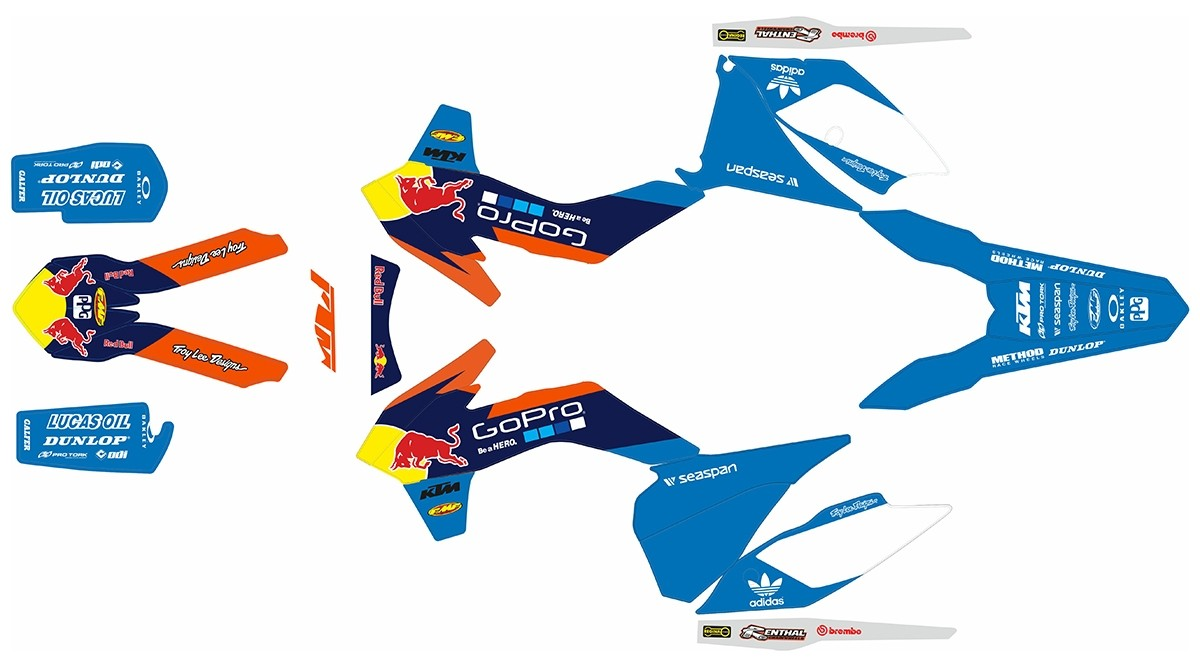 De 2015 Adhesivos Gopro Ktm Kit Bull F 2014 Blanco Red Exc jqVGSULzMp