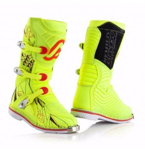 Botas Niño Acerbis Shark Junior Yellow Fluo