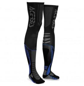 Calcetines Largos Acerbis X-Leg Pro Black / Blue