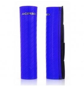 Protectores de Horquilla Acerbis 43-48 mm Goma Carbono Azul