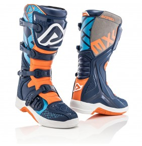 Botas Acerbis X-Team Boots Blue / Orange 2020