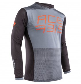 Camiseta Acerbis MX FireFlight Black / Orange 2020