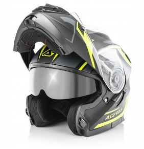 Casco Acerbis Serel Black / Yellow Fluo