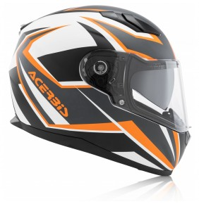 Casco Acerbis Full Face X-Street FS-816 Orange / White