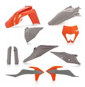 Full Kit de Plásticos Acerbis KTM EXC / EXC-F 2020-2021 Gris / Naranja