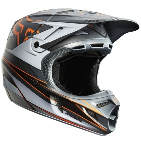 Casco FOX V4 Race Grey / Orange
