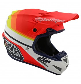 Casco KTM Troy Lee Designs SE4 Composite Mirage White / Red 2020