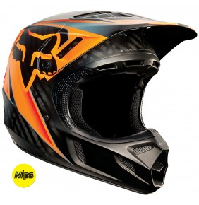 Casco FOX V4 Race Black / Orange