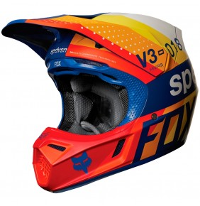 Casco Fox V3 Draftr Blue 2018