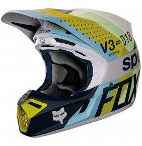 Casco Fox V3 Draftr Light Grey 2018