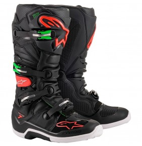 Botas Alpinestars Tech 7 Black / Red / Green