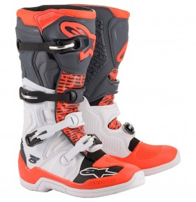 Botas Alpinestars Tech 5 White / Grey / Red Fluo