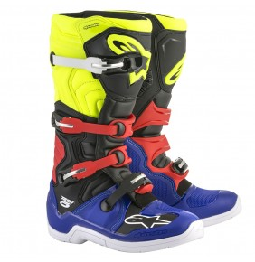 Botas Alpinestars Tech 5 Blue Black Yellow Fluo Red