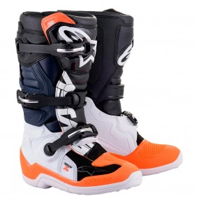 Botas Niño Alpinestars Tech 7S Black / White / Orange Fluo