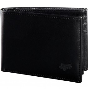 Cartera FOX Bifold Leather Wallet Black