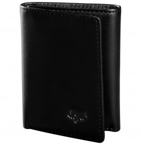 Cartera FOX Trifold Leather Wallet Black